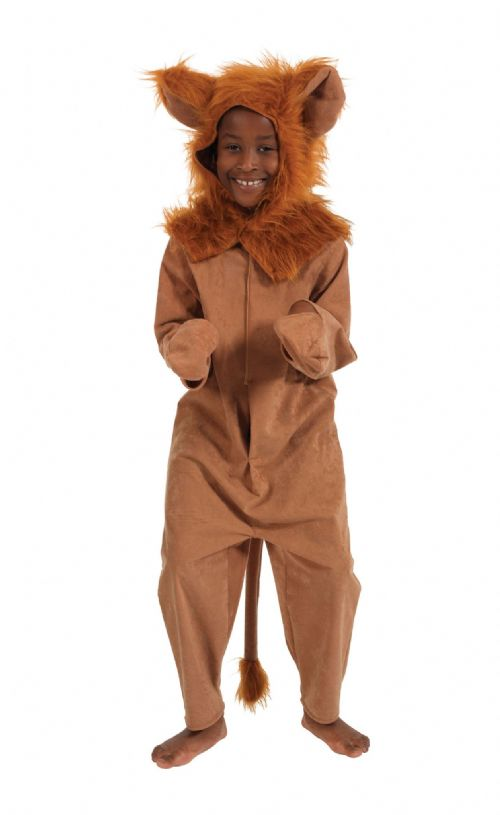 Childs Lion Fur Fabric Costume Jungle Animal Beast Africa India Fancy Dress